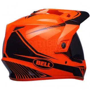 Bell MX9 MIPS Adventure Helmet - Torch Orange Black Image 4