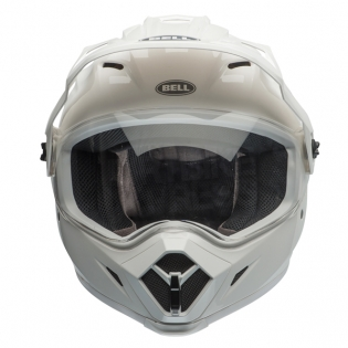 Bell MX9 MIPS Adventure Helmet - Solid White Image 3