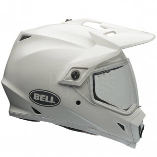 Bell MX9 MIPS Adventure Helmet - Solid White Image 4