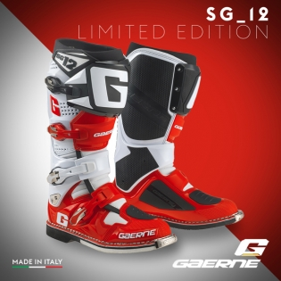 Gaerne SG12 Motocross Boots - Limited Edition White Red Black Image 3