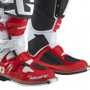 Gaerne SG12 Motocross Boots - Limited Edition White Red Black Image 4
