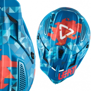 2018 Leatt GPX 4.5 V22 Helmet - Blue Red Image 2