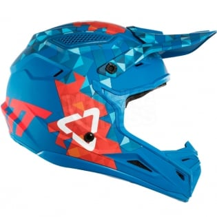 2018 Leatt GPX 4.5 V22 Helmet - Blue Red Image 4