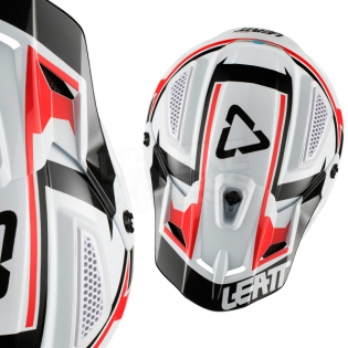 2018 Leatt GPX 4.5 V20 Helmet - White Black Image 2