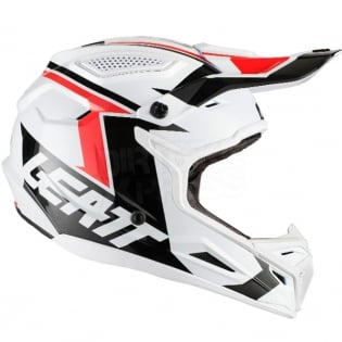 2018 Leatt GPX 4.5 V20 Helmet - White Black Image 4