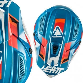 2018 Leatt Kids GPX 4.5 V10 Helmet - Blue White Image 2