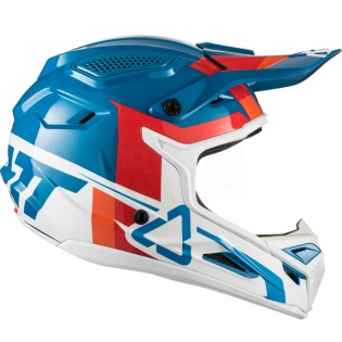 2018 Leatt Kids GPX 4.5 V10 Helmet - Blue White Image 4