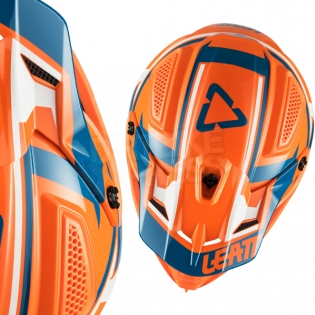 2018 Leatt Kids GPX 4.5 V22 Helmet - Orange Denim Blue Image 2