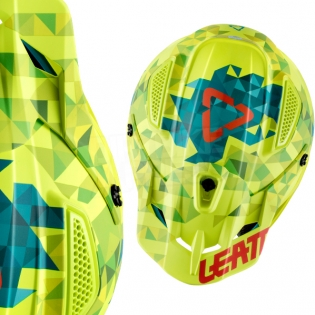 2018 Leatt Kids GPX 4.5 V22 Helmet - Lime Teal Image 2