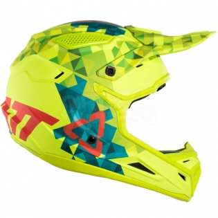 2018 Leatt Kids GPX 4.5 V22 Helmet - Lime Teal Image 4