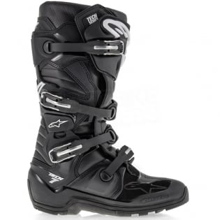 Alpinestars Tech 7 Enduro Boots - Black White Flo Yellow Image 2