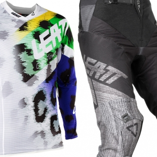 2018 Leatt GPX 5.5 Motocross Kit Combo - Leopard Black Brushed Image 3