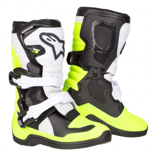 Alpinestars Kids Boots Tech 3S - Black White Flo Yellow Image 3