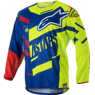 2018 Alpinestars Techstar Kit Combo - Screamer Blue Flo Ylw Rd Image 2