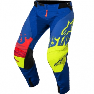 2018 Alpinestars Techstar Kit Combo - Screamer Blue Flo Ylw Rd Image 4