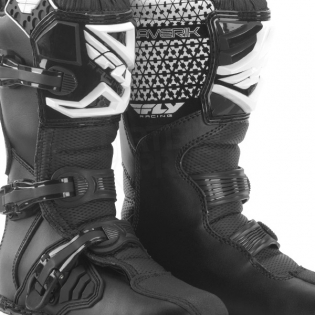 2018 Fly Racing Maverik Kids Boots - Black Image 3
