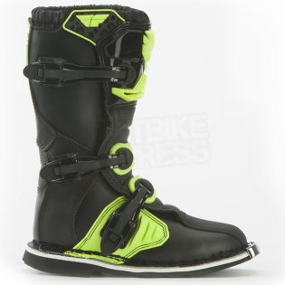 2018 Fly Racing Maverik Kids Boots - Black Hi Viz Image 2