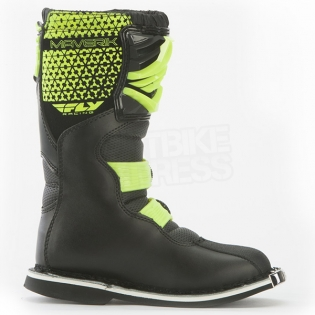 2018 Fly Racing Maverik Kids Boots - Black Hi Viz Image 4