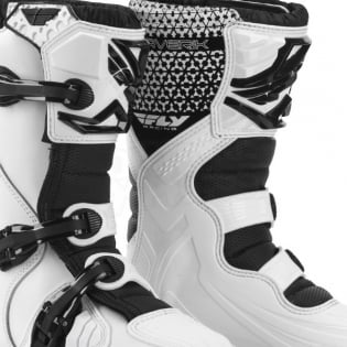 2018 Fly Racing Maverik Kids Boots - White Black Image 3