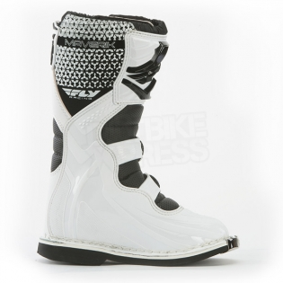 2018 Fly Racing Maverik Kids Boots - White Black Image 4