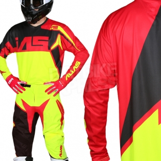 2018 Alias A2 Kit Combo - Burst Neon Yellow Red Image 2