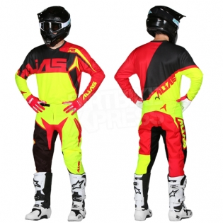 2018 Alias A2 Kit Combo - Burst Neon Yellow Red Image 3