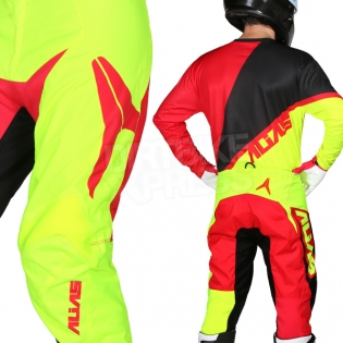 2018 Alias A2 Kit Combo - Burst Neon Yellow Red Image 4