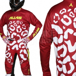 2018 Alias A2 Kit Combo - Cheetah Maroon White Image 2