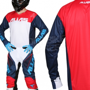 2018 Alias A1 Jersey - Classic Navy Red Image 2