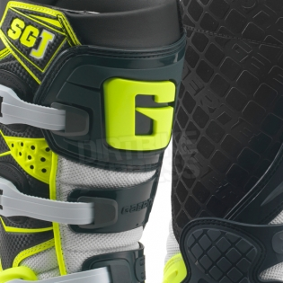 Gaerne SGJ Kids Boots - Grey Fluo Yellow Image 2