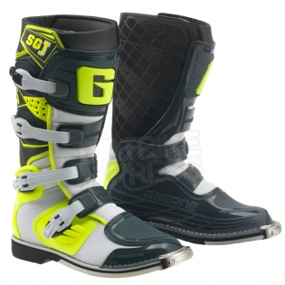 Gaerne SGJ Kids Boots - Grey Fluo Yellow Image 3