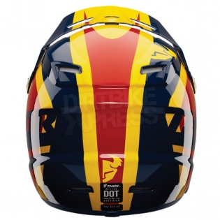 2018 Thor Kids Sector Helmet - Ricochet Navy Yellow Image 2