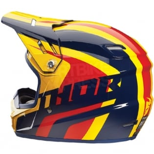 2018 Thor Kids Sector Helmet - Ricochet Navy Yellow Image 3