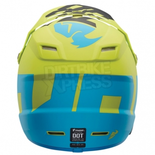 2018 Thor Kids Sector Helmet - Level Electric Blue Lime Image 2