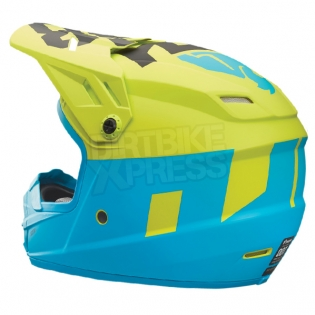 2018 Thor Kids Sector Helmet - Level Electric Blue Lime Image 3