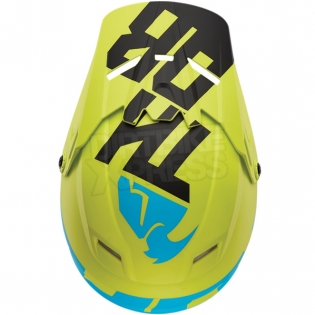2018 Thor Kids Sector Helmet - Level Electric Blue Lime Image 4