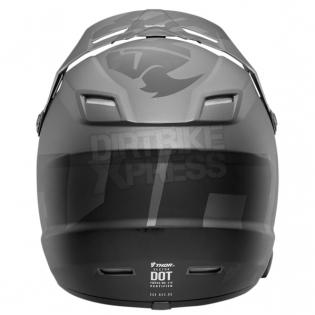 2018 Thor Kids Sector Helmet - Level Charcoal Black Image 2