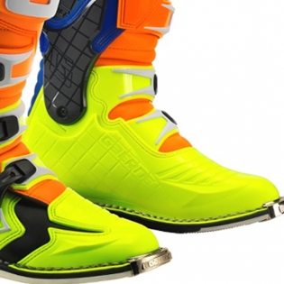 Gaerne G React Boots - Orange Blue Fluo Yellow Image 2