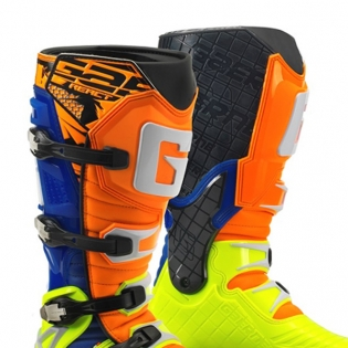 Gaerne G React Boots - Orange Blue Fluo Yellow Image 3