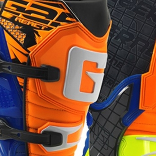 Gaerne G React Boots - Orange Blue Fluo Yellow Image 4