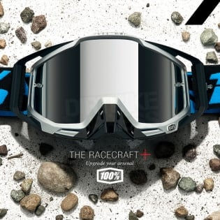 100% Racecraft Plus Goggles - Daffed Mirror Silver Lens Image 2