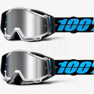 100% Racecraft Plus Goggles - Daffed Mirror Silver Lens Image 3