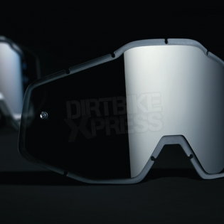 100% Racecraft Plus Goggles - Daffed Mirror Silver Lens Image 4