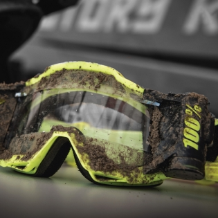 100% Accuri Forecast Mud Goggles - Fluo Yellow Clear Lens Image 3