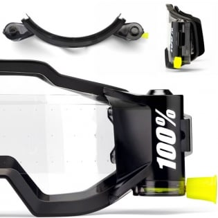 100% Accuri Forecast Mud Goggles - Fluo Yellow Clear Lens Image 4