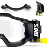 100% Accuri Forecast Mud Goggles - Fluo Yellow Clear Lens