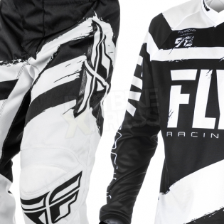 2018 Fly Racing F16 Kit Combo - Black White Image 3