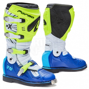 Forma Terrain TX 2.0 Motocross Boots - Fluo Yellow White Blue Image 3