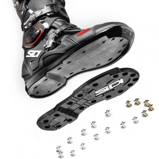 Sidi Crossfire 2 SRS Motocross Boots - Black White Image 4
