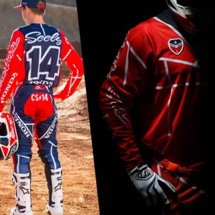 Troy Lee Designs SE Air Kit Combo - Metric Red Navy Image 3